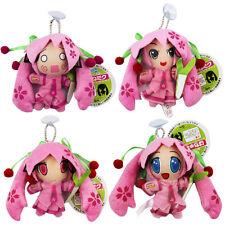 4pcs Hatsune Miku 10cm Soft Plush Stuffed Doll Set Pink