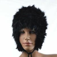 Hiver Bonnet chapeau Chapka Femme 100% Fourrure de Lapin noir zaza2cats