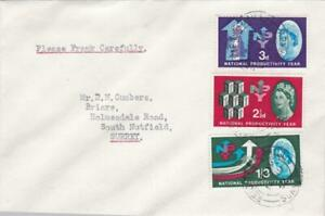 GB FDC1963 NPY COVER PLAIN TYPED CDS CANCEL