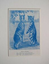 c1910 LOUIS WAIN CAT PRINT TWOS COMPANY BOOK ILLUSTRATION