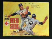 1970 Detroit Tigers @ Boston Red Sox Program Unscored (Vintage)  M1228