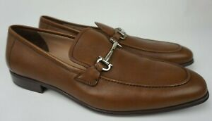 Salvatore Ferragamo Fenice Brown Leather Loafers Men's Shoes Size 13 E