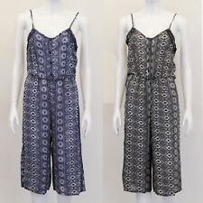 Ladies Dungaree Brave Soul Jumpsuit Sleeveless Playsuit Lace Aztec Casual Summer