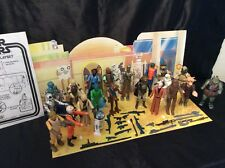 Vintage Star Wars Action Figures Lot, Weapons, Custom Creature CANTINA BACKDROP!