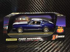 Pioneer Slot Car 1968 Ford Mustang Fastback GT Midnight Blue Route 66 P055