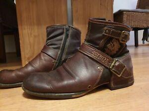 Replay BOOTS Leder braun Schuhe Stiefel Gr. 44