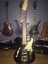 Cozart Semi Hollow Body TelecasterTele Style Electric Guitar Bigsby Style Bridge