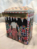 COLLECTIBLE GINGERBREAD SWEET SHOPPE TIN TRINKET OR CANDY BOX