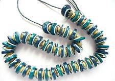 Collana lunga Accessorize _ INUSUALE Design _ un sacco di blu, verde e argento anelli