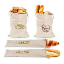 Linen Bread Bags Drawstring Bag For Loaf Homemade Artisan Bread Storage Bag UK c