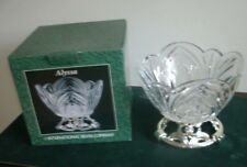 International Silver Company - Alyssa - Leaded Crystal Bowl & Silverplated Stand