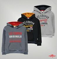 Boys Lee Cooper Long Sleeves Ribbed Logo London OTH Hoodie Sizes from 7 to 13