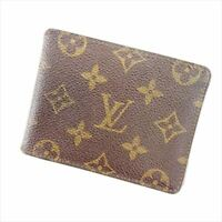 Louis Vuitton Bifold Monogram PVC leather Brown Woman Authentic Used Y1882