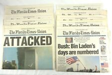 The Florida Times Union 9/11 Newspaper September 12,13,14,15,16,17,18,20,21 2001