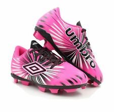 Umbro Arturo 3.0 FG Pink Kids Youth Boy Girl Soccer Cleats SIZE 5