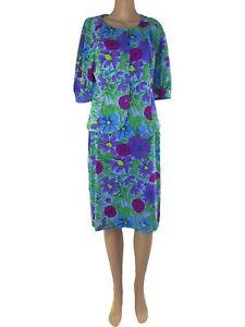 ken scott completo tailleur donna floreale vintage it 46 xl extra large