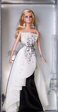 2012 * BLACK AND WHITE BEADED GOWN * BARBIE DOLL . PLATINUM LABEL