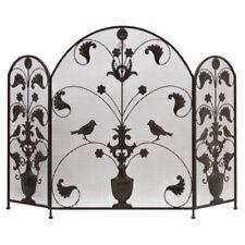 Style Ancien Pare Feu Ecran de Cheminée Oiseaux 130 cm