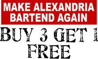 MAKE ALEXANDRIA BARTEND AGAIN Anti Liberal Ocasio-Cortez BUMPER STICKER