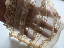 AA Antique French Lace Ruffles Dolls Lawn Salvage Remnant Trims