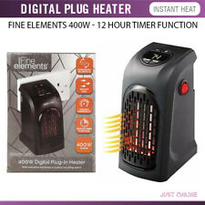 400W Portable Plug-In Digital Electric Heater Thermostat Control LED Display UK