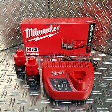 Milwaukee Akku Set 12Volt  2x Akku M12 2,0Ah + Ladegerät C12C  M12NRG 4933459209