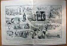 Kreta Griechenland - Tour durch die Berge - Grafik, Stich, Holzschnitt von 1884