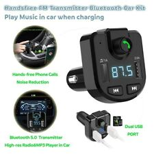 Bluetooth 5.0 Fm Transmitter Wireless Mp3 Player Car Charger Car Accessories