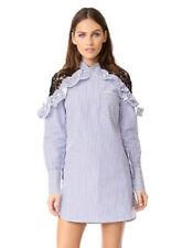 Vestiti da donna a manica lunga camicia in misto cotone
