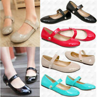 NEW Womens Strap Loafers Dance Pumps Girl's Mary Jane Casual Comfort Flats Shoes
