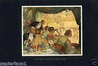In der Loge Kunstdruck von 1926 Theater Ball Tanz Walter Miehe 20er Jahre Mode