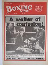 Boxing News 5 Aug 1988 Honyghan-Chung Starlin-MolinaresMcGirt,Julian Jackson,