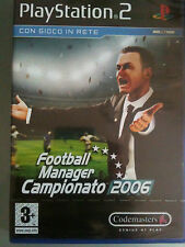 FOOTBALL MANAGER CAMPIONATO 2006   NUOVO SIGILLATO ITALIANO PS2