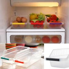 Kitchen Storage Collecting Box Basket Refrigerator Fruit Organiser Rack Utility