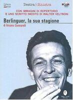 BERLINGUER LA SUA STAGIONE DVD + Libro Nuovo Sigillato Digipack Cofanetto