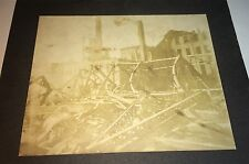 Antique Victorian American Disaster Scene! Collapsed Structure! US Cabinet Photo