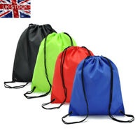 Outdoor Strong Drawstring Gym Bag Sports hiking cycling Bicycle backpack UK Ship