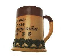 c1895 Doulton Lambeth salt glazed stoneware motto ware tankard Remember Me