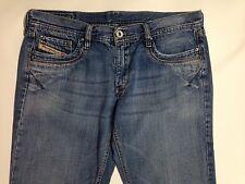 DIESEL Reggins Blue Jeans Cotton Denim measured size 30 x 29 made in Italy