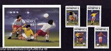Dominica - 1986 World Cup Football - U/M - SG 983-6 + MS987