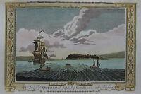 Quebec in Kanada- Ansicht von G.A. Baldwyn - Originaler Kupferstich 1794