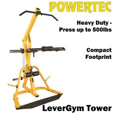 POWERTEC LeverGym Tower WB-LST16 Home Gym Isolateral Arms Bench Press Squat