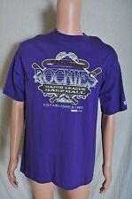 Vintage '90s 1993 NOS Colorado Rockies baseball purple t shirt M