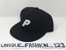 PALACE SKATEBOARDS FW16 DARK GREY CHARCOAL WOOL STADIUM 6 PANEL CAMP CAP P HAT