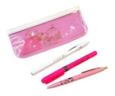 Bic Peanuts Snoopy 2 Ballpoint Pens + 1 Highlighter + Pen Pouch Set (Pink)