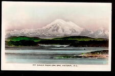 1937 real photo Mt.Baker from Victoria Canada Washington mountain postcard