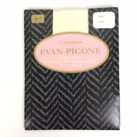 Evan Picone Ultra Sheer Pantyhose Long Shell Off White Control Top Sandalfoot