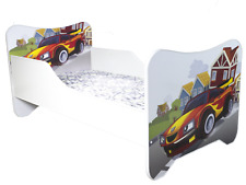 Childrens Bed Toddler Bed Junior Bed Kids Bed With Mattress 140 X 70cm Racing Car