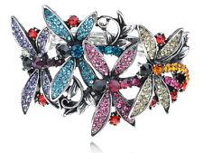 Aurore Boreale Crystal Rhinestone Web Spider Insect Bug Bracelet Bangle Cuff