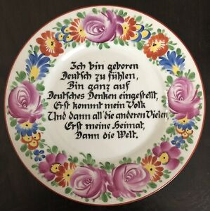 Historischer Wandteller 1906-1929 Gräf & Krippner